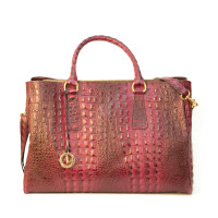 4014 Wine Croc by La Diva Handbags
