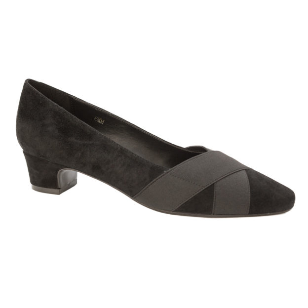 Allure Black Suede by Vaneli Shoes