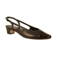 Aliz Black and Black Patent by Vaneli Shoes
