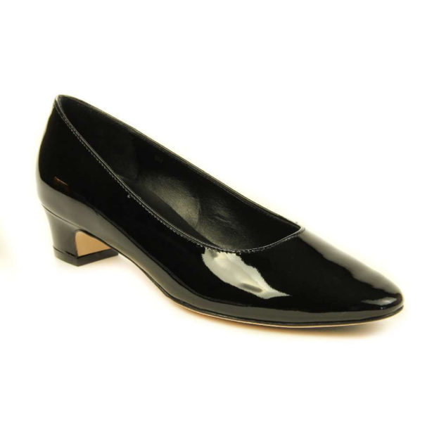 Astyr Black Patent by Vaneli Shoes