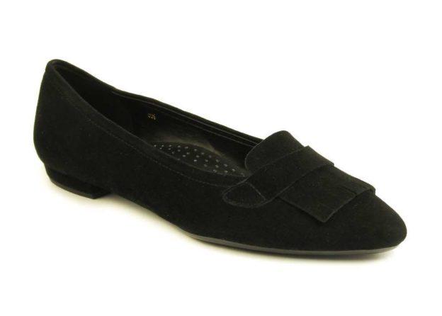 Gaea Black Suede by Vaneli Shoes