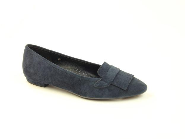 Gaea Navy Suede by Vaneli Shoes