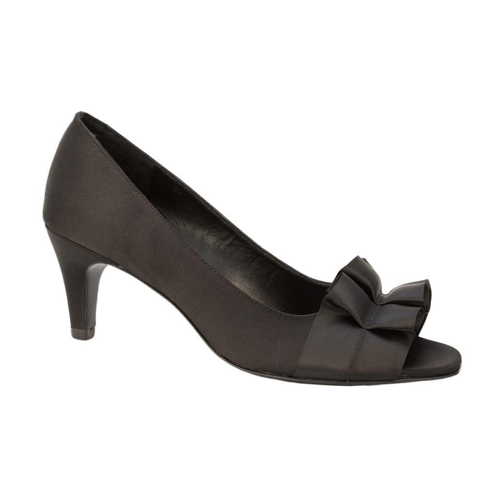 9a0ce767847d Madora Black Satin by Vaneli Shoes