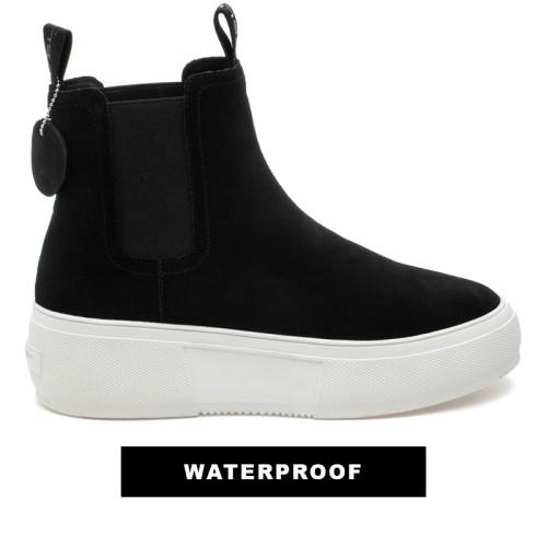 Cora Black Suede by J Slides Shoes
